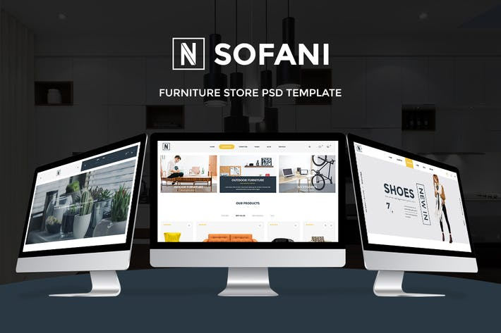 Cover Image For Sofani - Furniture Store PSD Template