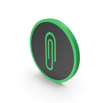 Icon Paper Clip Green