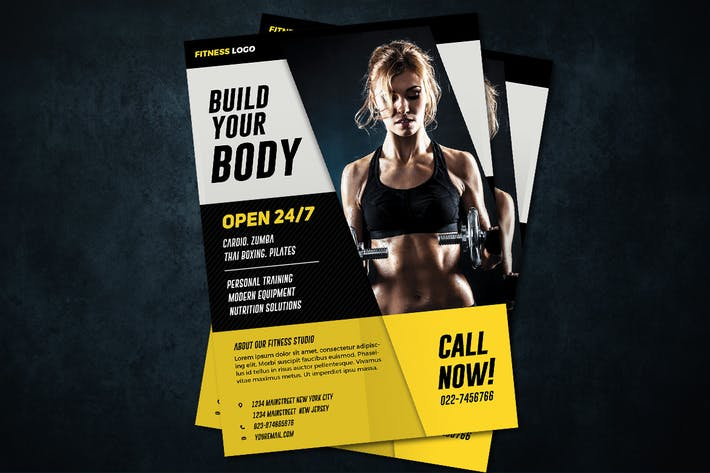 fitness flyer by vynetta on envato elements