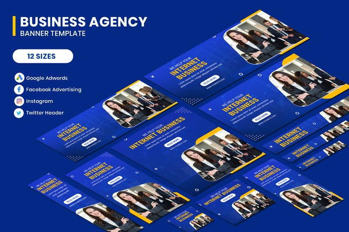 Cover Image For Business Google Adwords Banner Template
