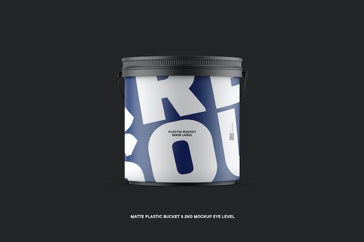 Thumbnail for Matte Plastic Bucket 5.2Kg Eye Level