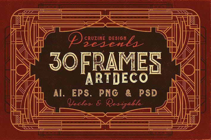 Thumbnail for 30 ArtDeco Frames