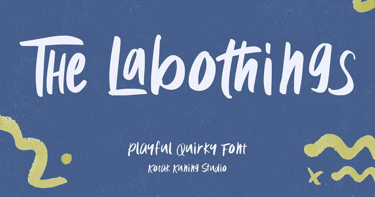 Download The Labothings - playful and fun font by kotakkuningstudio
