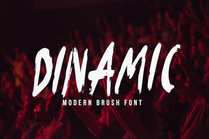 Thumbnail for Dinamic Brush Font