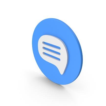 Mensaje azul