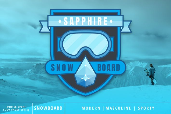 Thumbnail for Winter Sport Series: Snowboard Logo Badge
