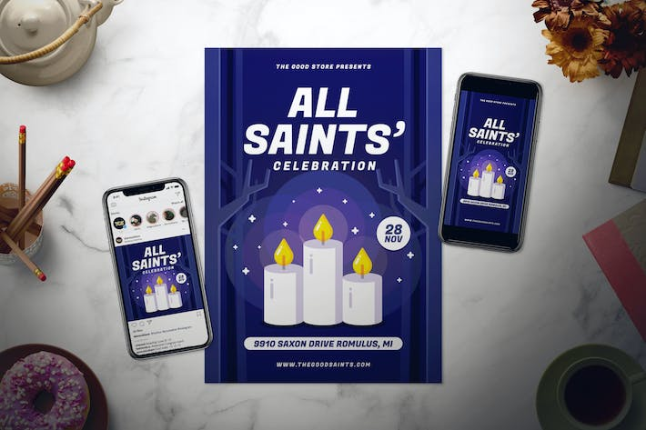 Thumbnail for All Saints' Day Flyer Set