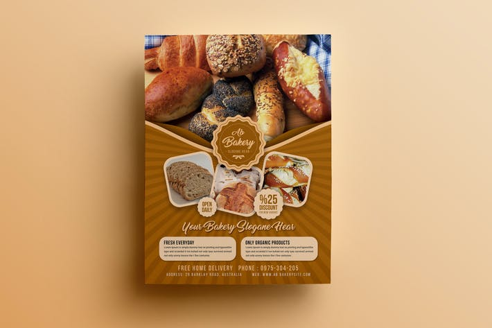 Thumbnail for Bakery Flyer Template