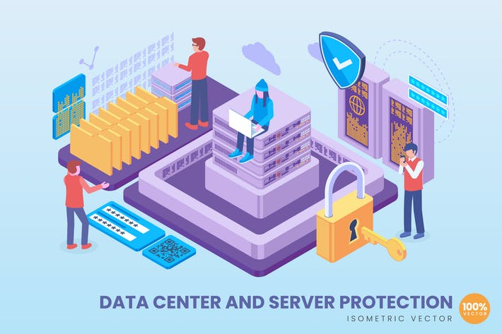 Thumbnail for Isometric Data Center & Server Protection Concept