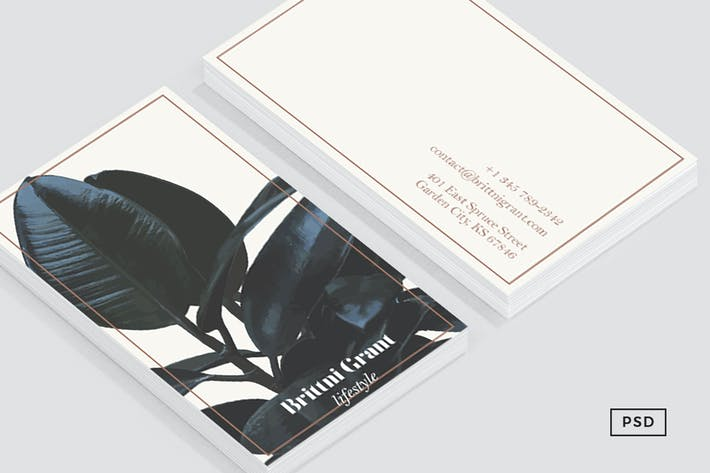 Thumbnail for Botanical Business card Template