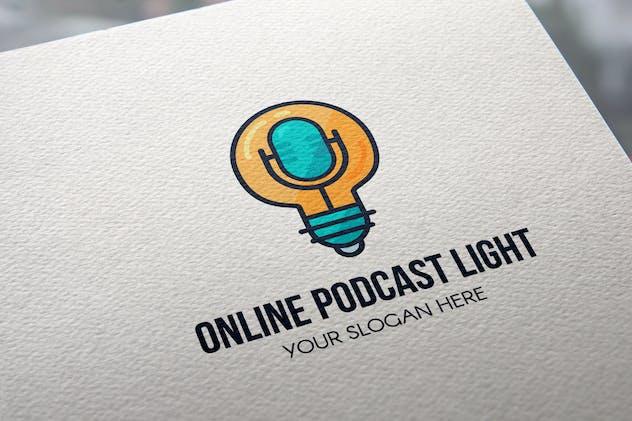 Online Podcast Light Logo