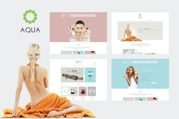 Thumbnail for Aqua - Spa and Beauty HTML5 Template