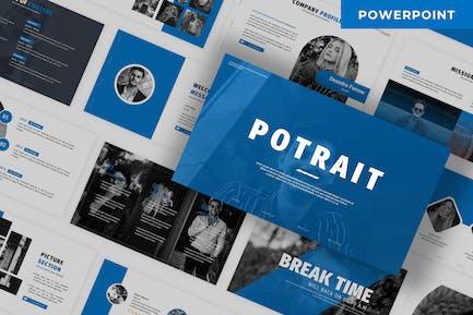 Potrait - Business Powerpoint Template
