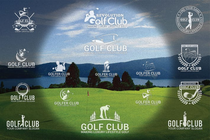Thumbnail for Golf Badges-Stickers & Logos