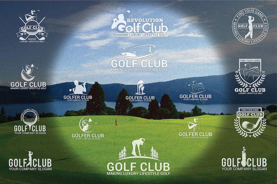 Golf Badges-Stickers & Logos