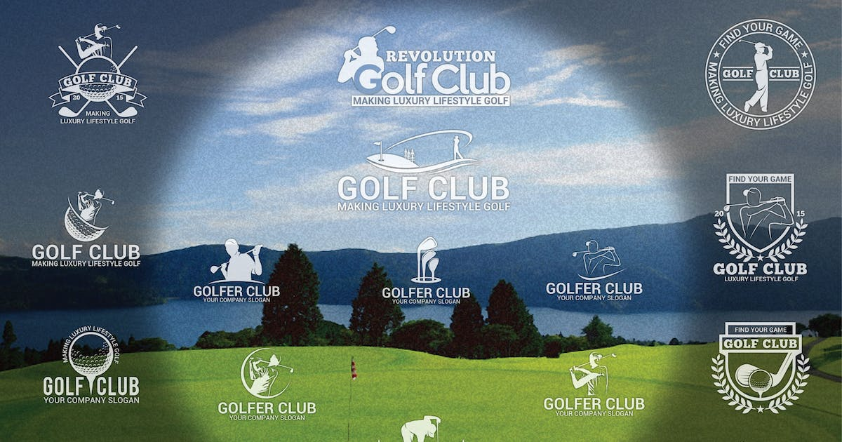 Download Golf Badges-Stickers & Logos by shazidesigns