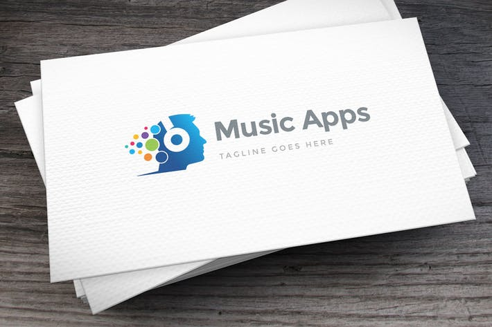 Cover Image For Music Apps Logo Template