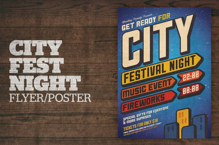 Thumbnail for City Festival Night Poster