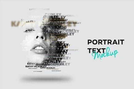 Text Portrait Mockup