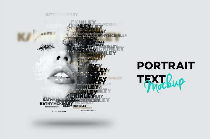 Thumbnail for Text Portrait Mockup