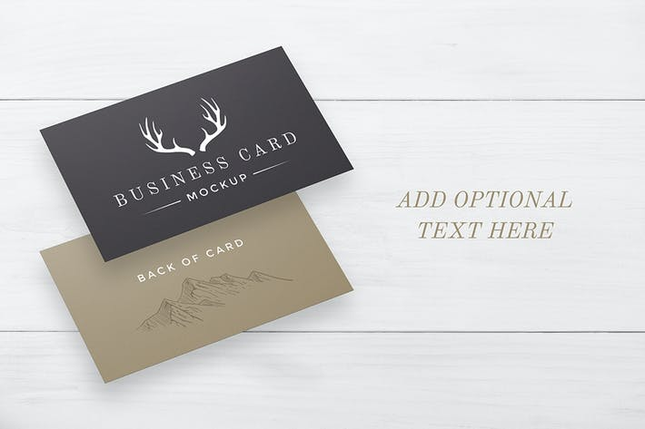 Thumbnail for White Wood Business Card Mockup
