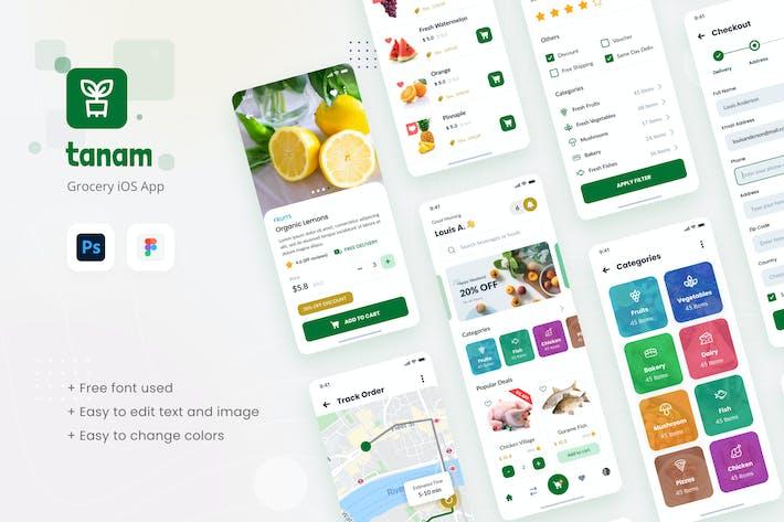 Tanam - Modèle de conception d'Appli iOS épicerie