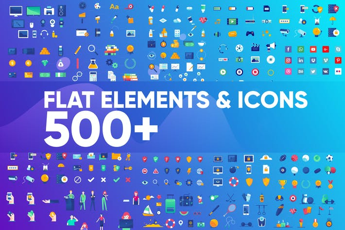 Thumbnail for Flat Disign Icons & elements
