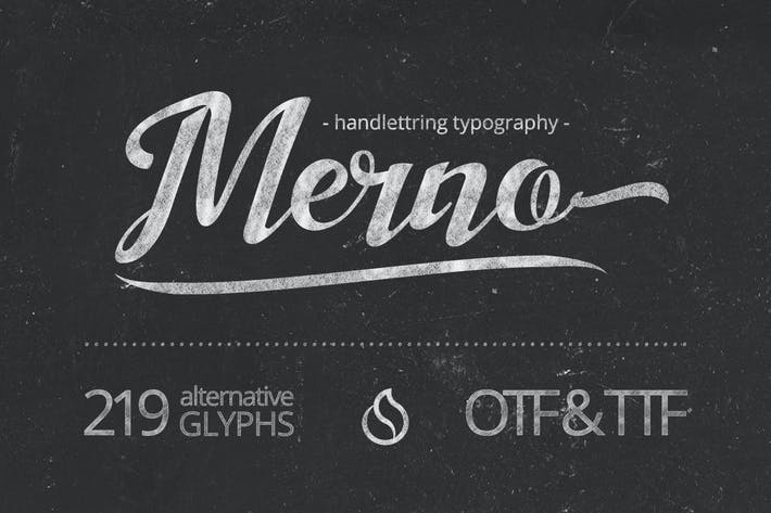 Thumbnail for Merno Font Script