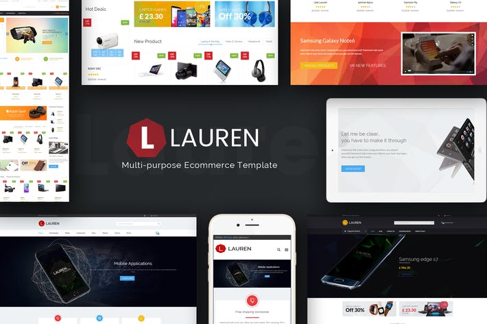 Thumbnail for Lauren - Technology Responsive Magento Theme