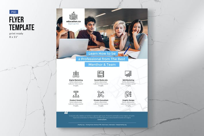 Thumbnail for Education & Courses Flyer Template