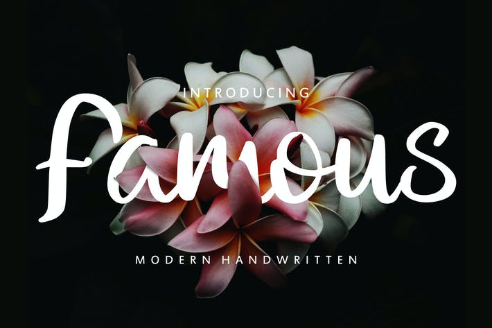 Thumbnail for Famous | Modern Handwritten