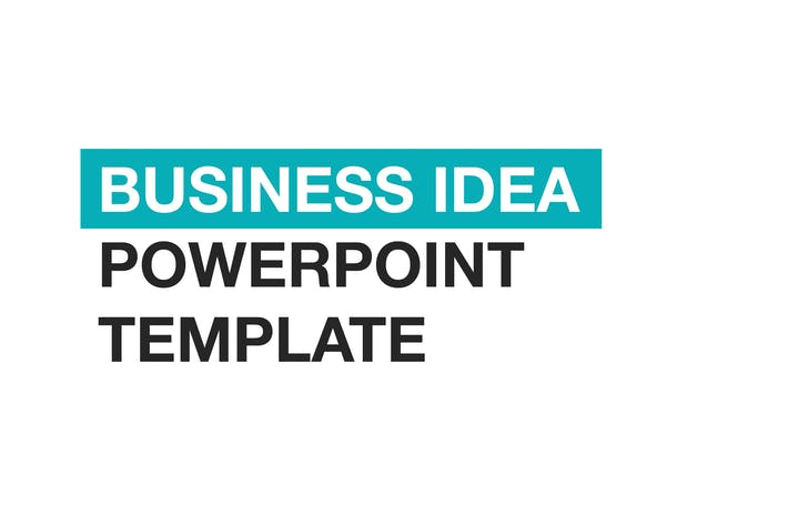 Cover Image For Business Idea PowerPoint template