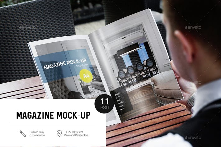 Thumbnail for Magazine A4 Mock-Up
