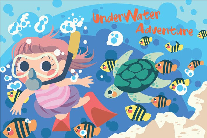 Thumbnail for Underwater Adventure - Vector Illustration