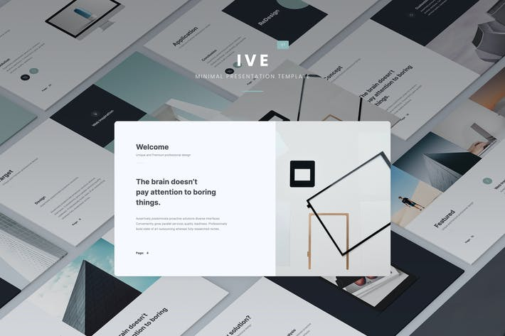 Thumbnail for IVE - Minimal Presentation Template (PPTX)