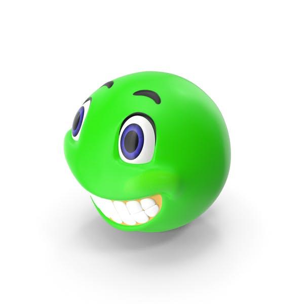 Cara de sonrisa verde