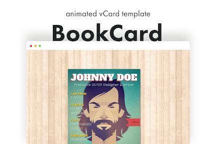 BookCard - 3D Animierte gefaltete vCard Vorlage