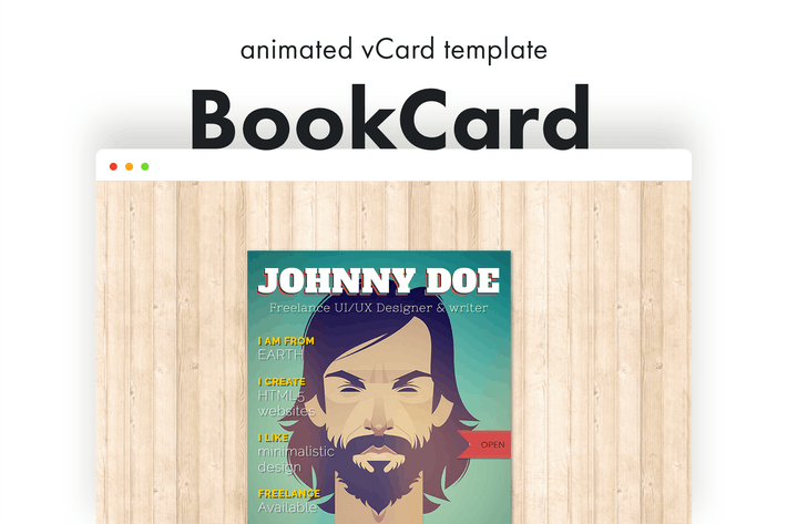 Thumbnail for BookCard - 3D Animated Folded vCard Template