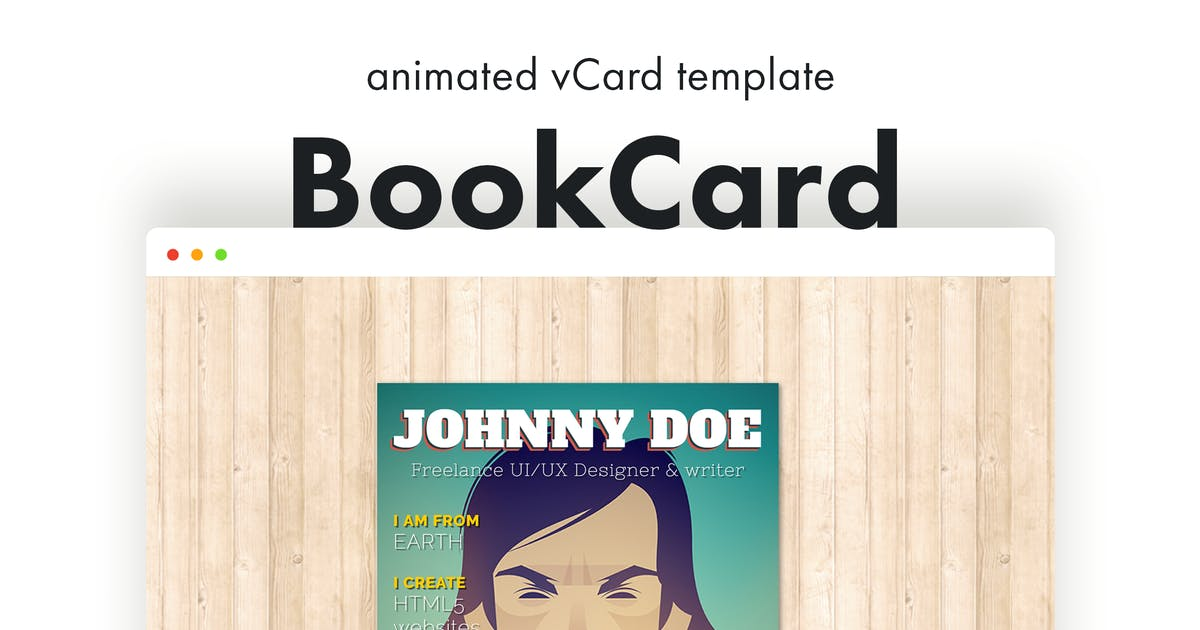 Download BookCard - 3D Animated Folded vCard Template by pixelwars