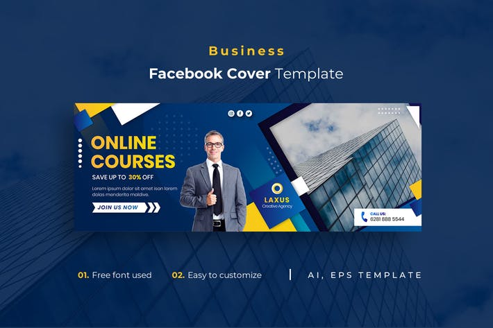 Thumbnail for Business r6 Facebook Cover Template