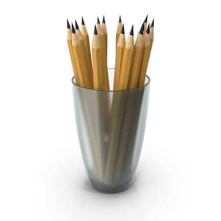 Glas mit Bleistiften