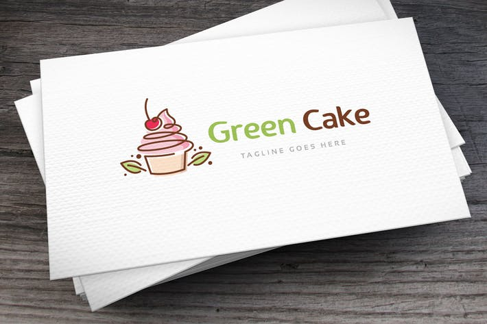 Thumbnail for Шаблон логотипа зеленого торта