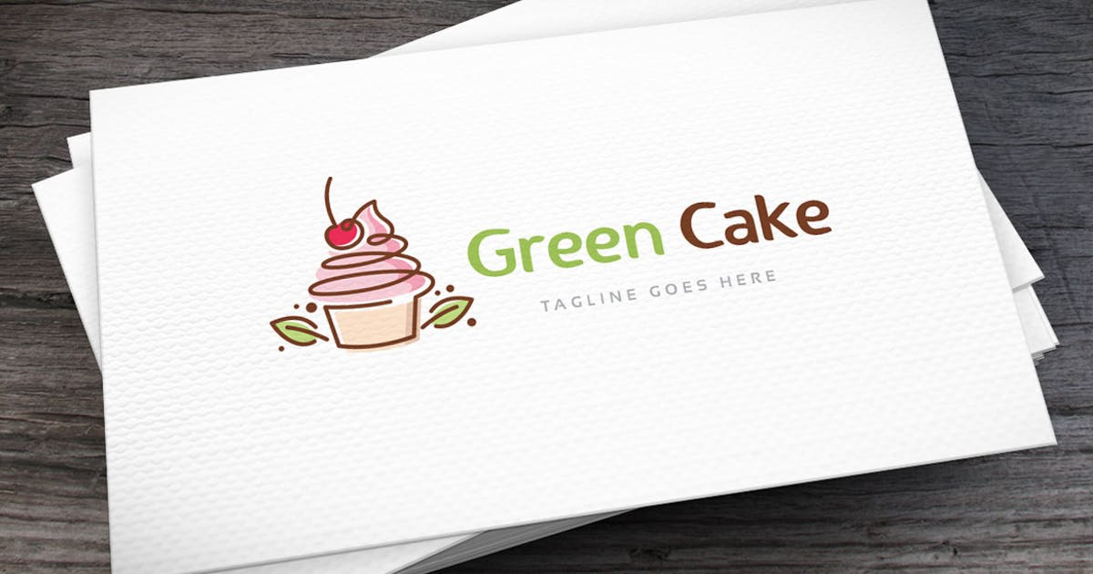Download Green Cake Logo Template by empativo