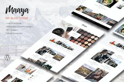 Maaya Blog - Reise-Blog, Persönlicher Blog