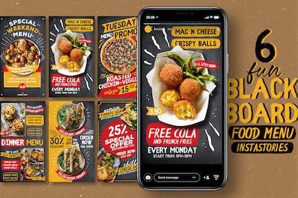 Fun Blackboard Food Menu Instagram Stories