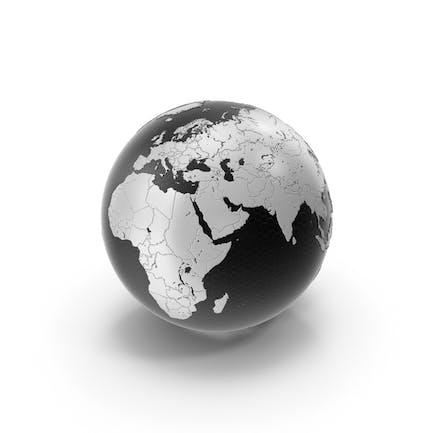Tech Black White Earth