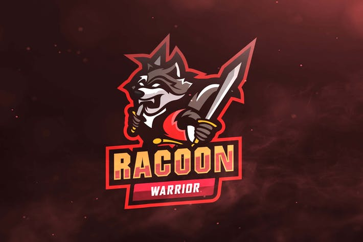 Thumbnail for Racoon Warrior Sport and Esports Logo