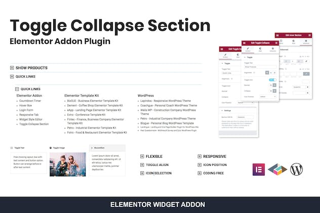 Toggle Collapse Section Elementor Addon