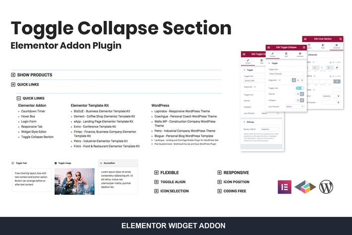 Thumbnail for Toggle Collapse Section Elementor Addon