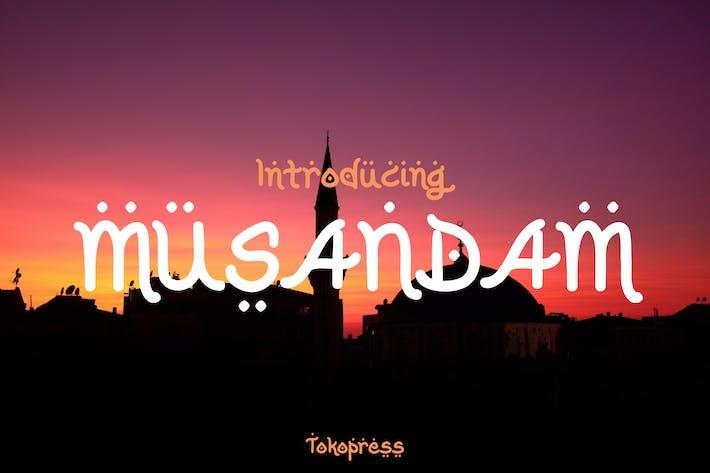 Musandam - Arabic look font
